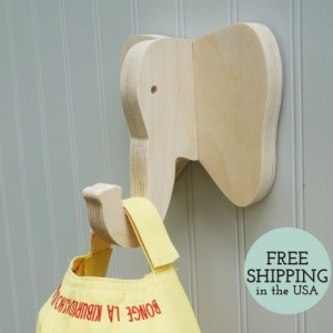 Wall hooks - Elephant wall hook