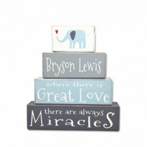 Wooden Nursery Sign - Elephant - Nursery Sign - Personalized gift
