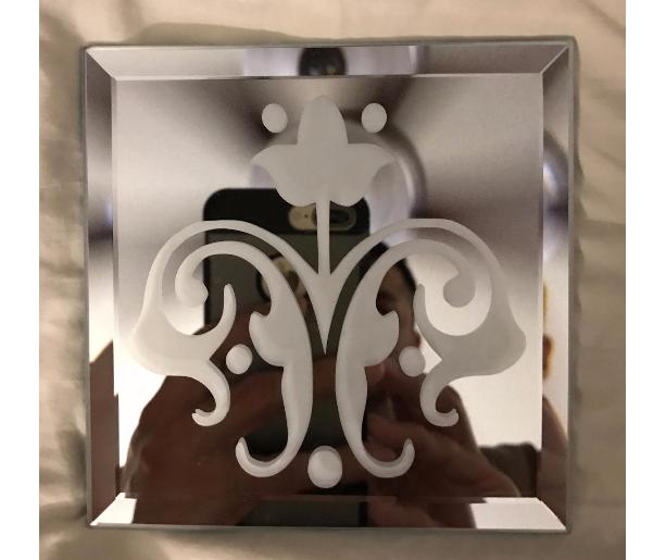 Spring Flower Mirror Glass Etching