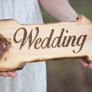 Wedding Sign - Laser Engraved Wedding Sign - Rustic Wedding - Wooden Arrow Sign - Wedding Signage - Wedding Signs - Wood Wedding Sign
