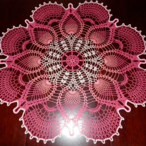 Lovely Handmade Crochet Tablecloth Doily,PINK, 41