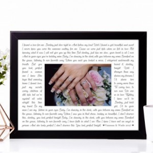 8x10 Picture Frame Ed Sheeran - Perfect