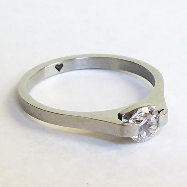 Women's Titanium Steel Ring