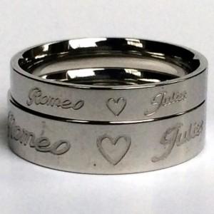 Titanium steel ring set for couples