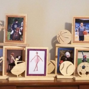 Personalized 5 x 7 Picture Frame with Carved Basketball, Customized Basketball Photo Frame