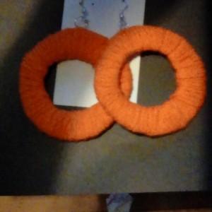 Yarn made earrings