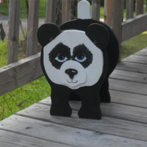 Panda bear planter box
