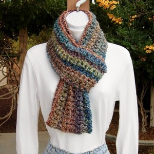 INFINITY LOOP SCARF Cowl Rust Orange Blue Gold Red Teal Multicolor Soft Striped Crochet Knit Winter Eternity Endless Ready to Ship in 3 Days