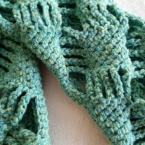 Infinity Cowl Scarf - Turquoise Scarf, Circle Scarf, Crochet Scarf, Gift for her, Neckwarmer Scarf