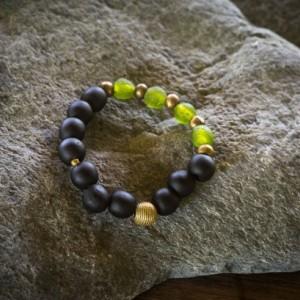 Mens beaded bracelet, African jewelry,  Men's  bracelet, Gift for him, Gift for husband, African beaded bracelet, Black bead bracelet