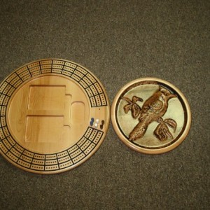 Blue Jay 3 track round cribbage board with storage