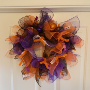 various color halloween wreath