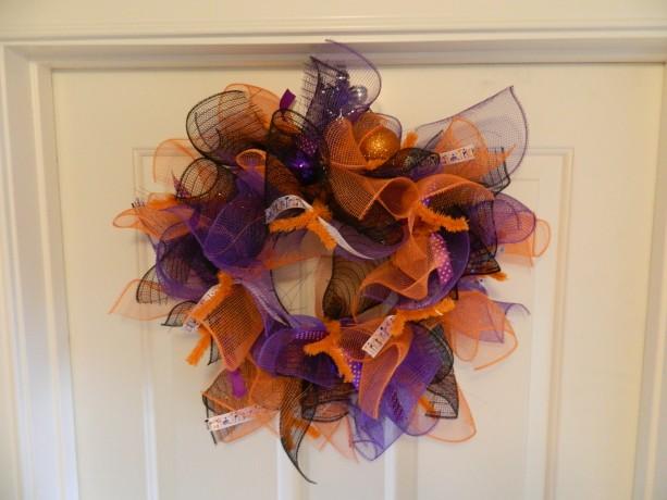 various color halloween wreath