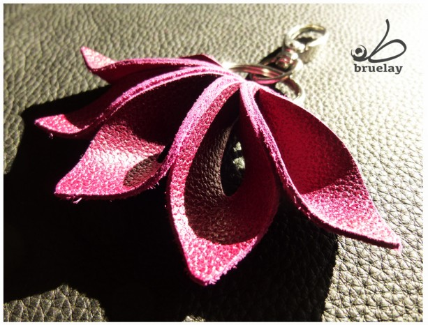 Floral petal bag charm