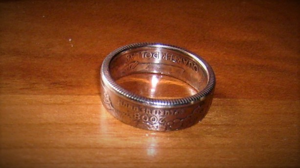 State quarter ring - silver