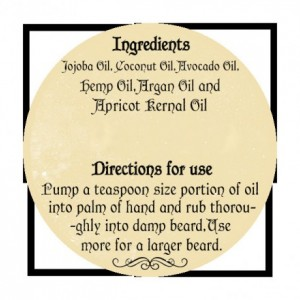 Irish beard balm beard oil  2 ounce bottle