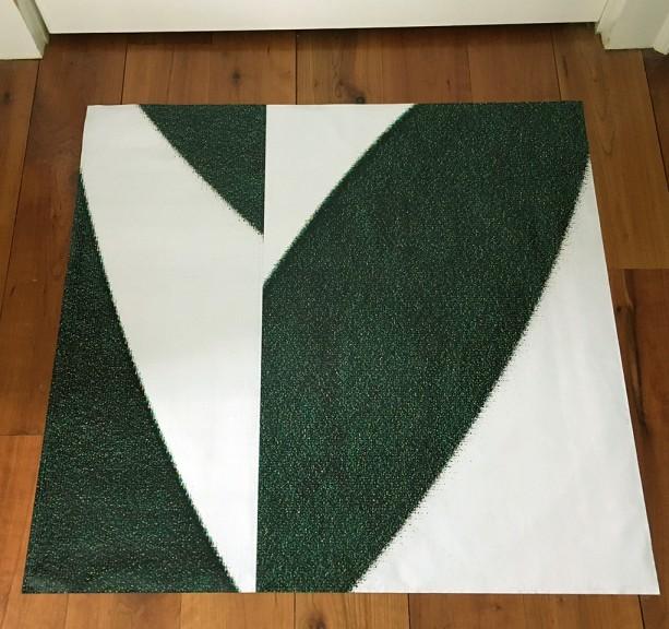 Heart Floor or Table Mat
