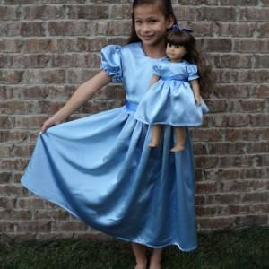 NEW Elegant Peter Pan Wendy Satin Costume 2PC Dress Set Child Size 12m-14yrs