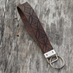 Leather Wrist Key Fob
