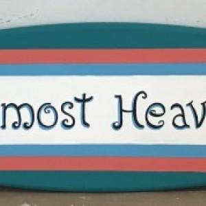 4ft wood surf surfboard beach pool wall art sign