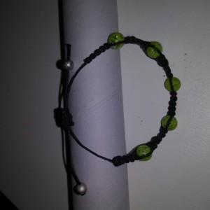 Green Star Beaded Shamballa Bracelet