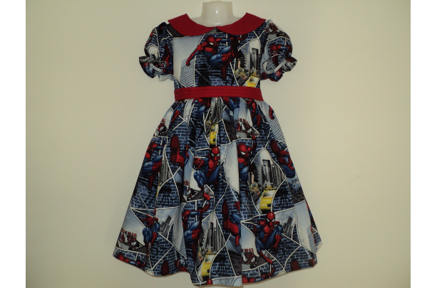 NEW Handmade Spider-man Dress Deluxe Custom Size 12M-14Yrs