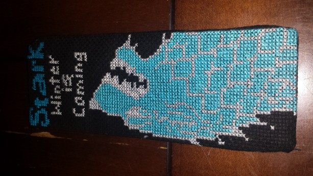Stark House Crossstitched Bookmark