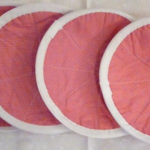 Round Orange Pot Holder/Trivet