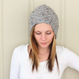 SALE - Wool Blend Aviator Cap in Grey Marle - Women's Knit Hat - Ready to Ship