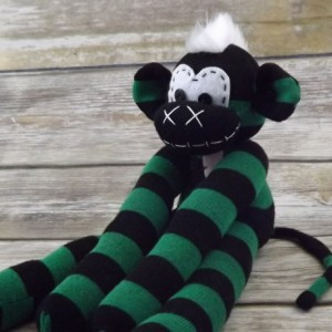 Sock monkey : Andy ~ The original handmade plush animal made by Chiki Monkeys
