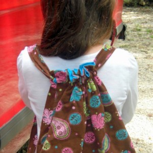 Polly Paisley Child Drawstring Backpack