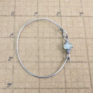 layering bracelet for her simple bracelet wire wrapped bracelet green stone bracelet teacher gifts under 40 sterling silver gift jewlery