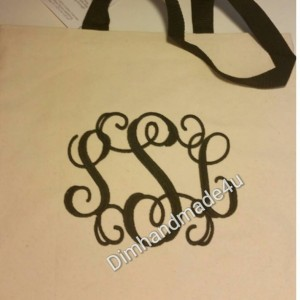 Monogram personalized embroidered bag! Makes a great gift! Eco Friendly, and reusable.