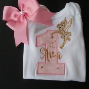 1st Birthday Fairy Shirt or Bodysuit Embellished with Swarovski Crystal, 2nd Birthday, Third Birthday etc., Custom Colors are Available!