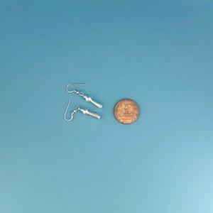 Southwestern Squash Blossom Earrings in Sterling Silver