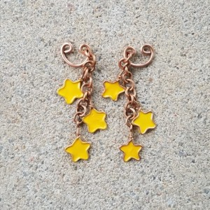 Pierceless Star Cluster Earrings