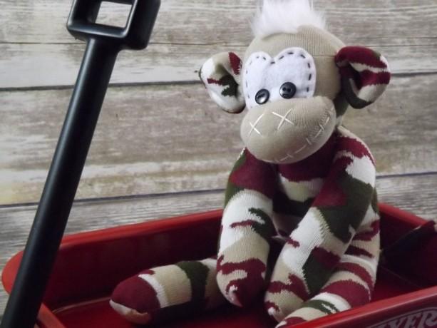 Sock monkey : Jim ~ The original handmade plush animal made by Chiki Monkeys