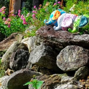 Mini Stuffed Elephants--Set of 3