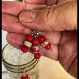 Boho style paperbead earrings