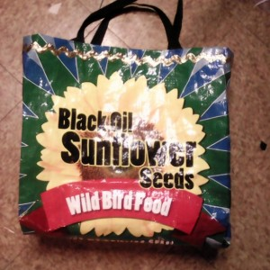 Recycled Bird Seed Bag Tote