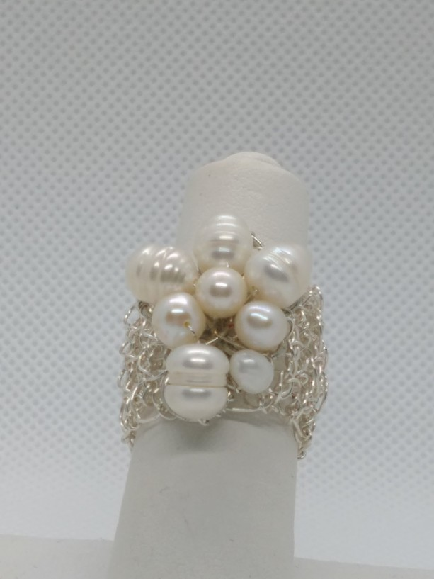 Handmade Freshwater Ringcrochet Wire Silver Ring Aftcra