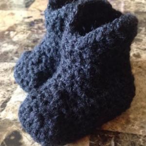0/6 Month Black Baby Unisex Cowboy Boots