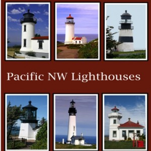 Pacific Northwest Lighthouses Fabric Panel