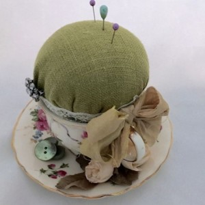 Grandmas Tea Cup Vintage Tea Cup Pin Cushion