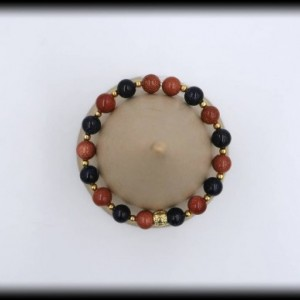 Goldstone and Blue Goldstone Bracelet for Courage and Motivation