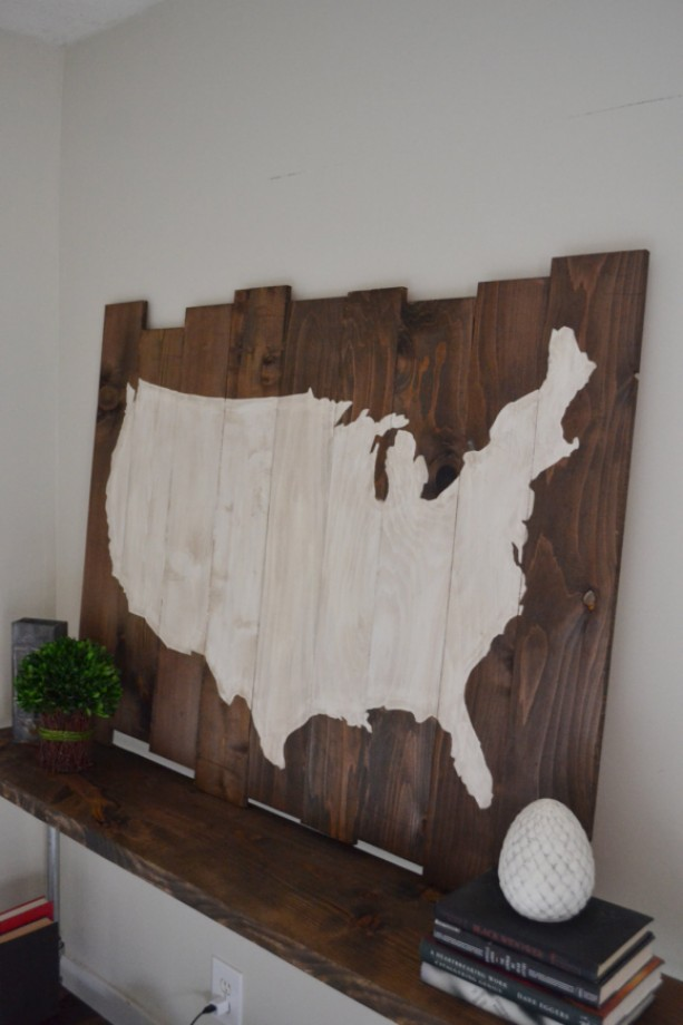United States Wall Art wood united states sign - hanging wall art - america | aftcra