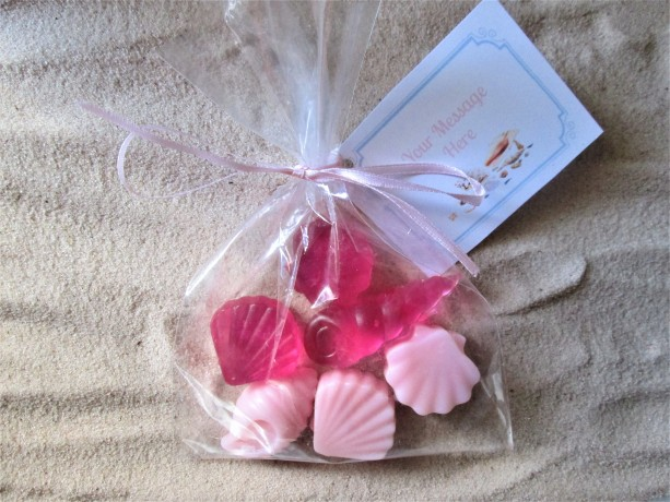 5 Sea Shell Organic Shea Butter and Glycerin Soap Favors