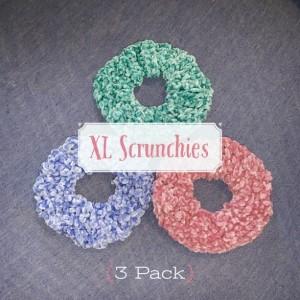 XL Velvet Scrunchies (3 Pack)