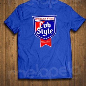 "NEW - ""Chicago Cubs ""Cubs Style"" - Old Style Beer Logo T-Shirt"