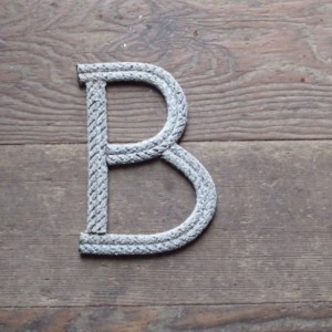 "8"" Rope Letters Personalize MADE TO ORDER Alphabet Nautical Decor Text Letters Natural or Green Rope Nautical Nursery Beach Western Cowboy"